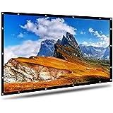AYAOQIANG Écran de Projection, 4K HD 16: 9 écran 120 Pouces Pliable,Portable, Anti-Plis pour Vidéoprojecteurs…