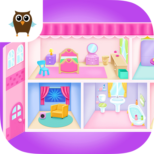 Doll House Cleanup & Decoration - Bedroom, Kitchen & Bath Designer (Spielen Doll House)