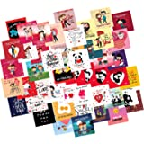 ODDCLICK Set of 48 Love Cards for Explosion Box or Other DIY(Do It Yourself) Love Greeting Cards 3X3 Inches Greeting Card