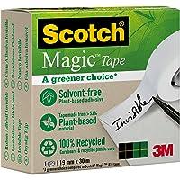 Scotch Magic Type Nastro Adesivo 3M Trasparente Inscrivibile, a Base Vegetale, 1 Pezzo