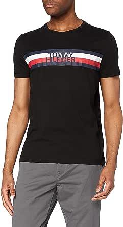 Tommy Hilfiger - Mens T Shirt - Casual Men's T-Shirts - Tommy Logo Tee T-Shirt - Tommy Hilfiger Mens T Shirts