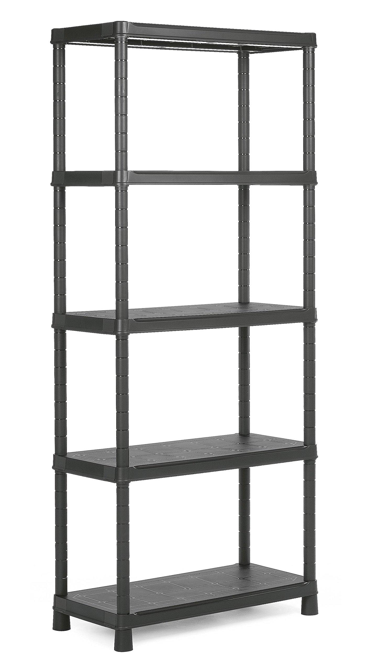 KIS   Etagère Plus 80/5, Noir, Shelves, 80x40x187 cm
