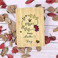 Biglietto Auguri per Mamma, Biglietti di Auguri Festa Della Mamma in Legno di Bambù Ottimo Regalo per la Festa Della…