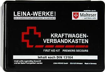 Leina Werke REF 10007 Leina Kfz-Verbandkasten Standard, Inhalt DIN 13164, schwarz