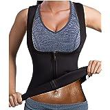 Chumian Sauna Gilet Donna Neoprene Fitness Canotta Sudore Sportivo Gilet Dimagrante Corpo Shaper per Perdita di Peso Snellent