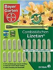 Bayer Garten Lizetan Combistäbchen Insektenabwehr draußen, Beige, 20 Stück