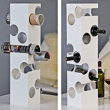 weinregal / flaschenregal corner, für 10 fl., mdf, weiß, stapelbar ... - Weinregal Für Küche