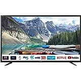 """Sharp Aquos 40BJ2E - 40"""" Smart TV 4K Ultra HD, HDR Slim, Wi-Fi, DVB-T2/S2, 3840 x 2160 Pixels, Nero, suono Harman Kardon…"""