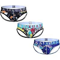ARCITON Men's Low Rise Jock Strap Printed Thong Underwear