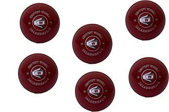 Premium Quality Maroon Red Synthetic Eva Light Weight Incredible General Training/Practice Bowling Skill Learning Coaching Match Game Practice Durable Men /Adult/Senior EVA Cricket Ball Water Resistant Weatherproof Balls (Pack Of 6)