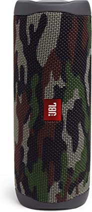 JBL Flip 5 Portable Waterproof Bluetooth Speaker with Hybrid Carrying Case (Squad)