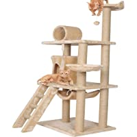Callas RioAndMe Large Cat Tree Condo with Sisal Scratching Posts, Perches Houses, Hammock   Multilevel Cat Tree   54.4…