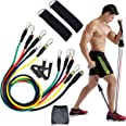 FLINQ 11-delige set weerstandsbanden, kwaliteitsweerstandsbanden, fitnessbandenset met 5 weerstandsbanden, max. 45 kg, incl.