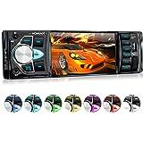 """XOMAX XM-VRSU415BT Autoradio mit 10 cm / 4"""" HD Bildschirm I Bluetooth Freisprecheinrichtung I 7 Beleuchtungsfarben einstellbar I USB, SD, AUX I Video-IN/Out, 1 DIN"""