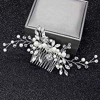 KERDEJAR Pettine, Pettine da Sposa Donna Gioielli con Perle Ornamenti per Capelli Sposa Matrimonio Elegante Copricapo