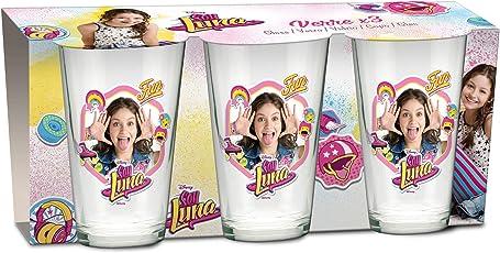 empireposter Glas-Set - Soy Luna - 237 ml - 3 Gläser - Trinkglas Kinder Geschirr