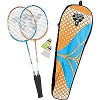 Talbot-Torro Badminton-Set 2-Attacker, 2 Schläger, 2 Federbälle, in wertiger Tasche, verschiedene Farben wählbar