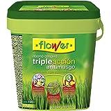 Flower 10733 10733-Abono césped triple acción anti musgo, 4 kg, No aplica, 20x20x20.7 cm