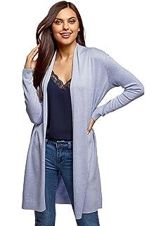 3cc098beb704 Aibrou Gilet Femme Léger avec Dentelle Cardigan Long Outwear Casual ...