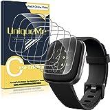 UniqueMe [6 Pack] Pellicola Protettiva per Fitbit Versa 2 Pellicola, [Film Flessibile] Soft HD Clear Anti-Scratch per Fitbit