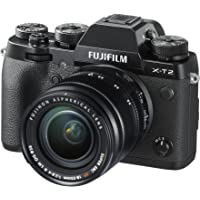 "Fujifilm X-T2 24MP Mirrorless Camera with XF18-55mm Lens (APS-C X-Trans CMOS III Sensor, X-Processor Pro Engine, EVF, 3"" LCD Screen, Fast & Accurate AF, Face/Eye AF, 4K Video, Film Simulation)- Black"