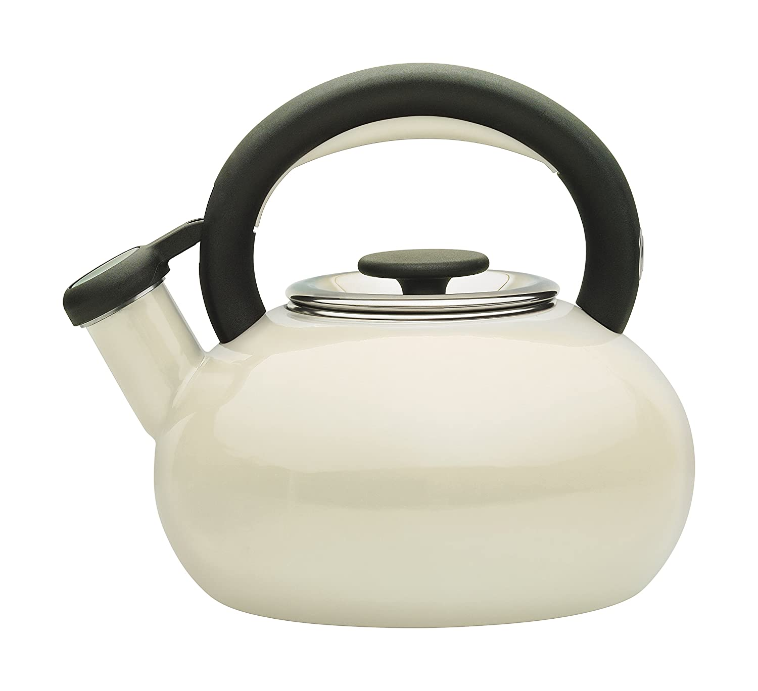 prestige enamel  litre retro stove top kettle  almond amazon  - prestige enamel  litre retro stove top kettle  almond amazoncoukkitchen  home