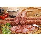 Die Weltmeister Wurst! Ahle Wurst nordhessische Spezialität perfekte Geschenkidee – Stracke edel Salami geräuchert am Stück - luftgetrocknete Mettwurst – (luftgetrocknet, 400 gr)