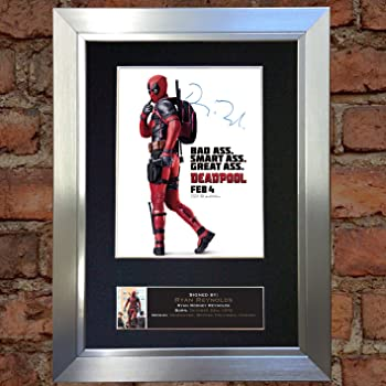 HWC Trading FR Ryan Reynolds Gift A4 Printed Autograph FRAMED Deadpool Gifts Print Photo Picture Display