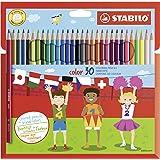 Kleurpotlood - STABILO color - 30 stuks - met 30 verschillende kleuren inclusief 4 neonkleuren