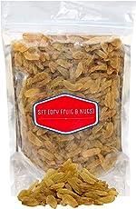 SFT Raisins Afghani Green Organic (Kishmish) Seedless, Dry Grapes 1 Kg