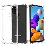 Migeec For Samsung Galaxy A21S Case - Crystal Clear Hybrid Material Covers Air Cushion Gel Bumper Technology Full Protection