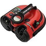 BLACK+DECKER ASI500-QS Gonfleur / Compresseur filaire - 11Bar - 160 PSI - Courant continu 12 volts - Accessoires : Câble de 3,1 m, 3 accessoires pour les équipements de sport, 2 tuyaux adaptateurs