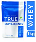 True Supplements Pure Whey Protein Concentrate (Unflavoured) l 33 Servings l 1kg