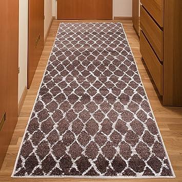 flur teppich laufer modern bracke muster netz braun calm kollektion 70 x 50 cm ikea