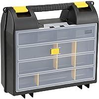 Stanley Maschinenkoffer / Werkzeugkoffer mit Organizer (36x14x33cm, Koffer für Elektrowerkzeuge, mit Schaumstoffeinlage…