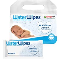 WaterWipes Salviettine Umidificate - 4 Confezioni da 60