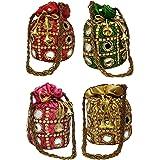 AILTINO Women's Potli Bag Combo (Multicolour) - Set of 4