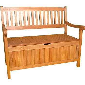 Sedex Truhenbank Gartenbank 3-Sitzer aus Eukalyptus