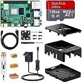 NinkBox Raspberry Pi 4 Modelo B Kit 【8GB RAM+128GB SD Card 】 Versión Actualizada de Raspberry pi 3b+, con Micro HDMI, Fuente