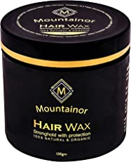 mountainor Anti-dandruff with Natural Essential Oils Shine and Refreshing Smell Hair Wax Strong Hold with Hair-Fall Protection for Men (100g)