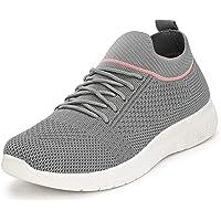 Flavia Women's D.Grey/Pink Running Shoes