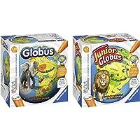 Ravensburger 00787 - Tiptoi Interaktiver Globus 17, Spiel & 00785 - Tiptoi Mein interaktiver Junior Globus