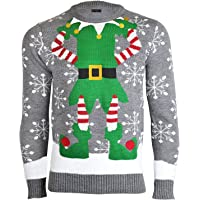 Noroze - Maglione natalizio da uomo, lavorato a maglia
