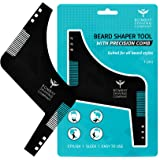 Bombay Shaving Company Beard Shaper Tool With Comb For Men, Home And Salon Use, Men Beard Accessories (Black)