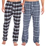 INSIGNIA 2 Pack Mens Checkered Lounge Pants Trousers Pyjamas Bottoms Cotton Mix