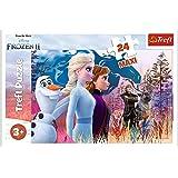 Trefl- Magische Reise, Disney Frozen 2 24 Maxiteile, für Kinder ab 3 Jahren Puzzle Colori, 14298