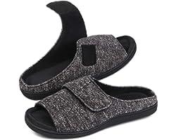 Snug Leaves Ladies' Memory Foam Slippers with Adjustable Sticker