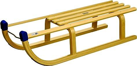 Rix Holzschlitten Davos 100 cm, belastbar bis 120 Kg