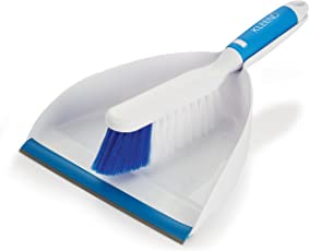 Cello Kleeno Dust Pan with Brush (Blue and White)