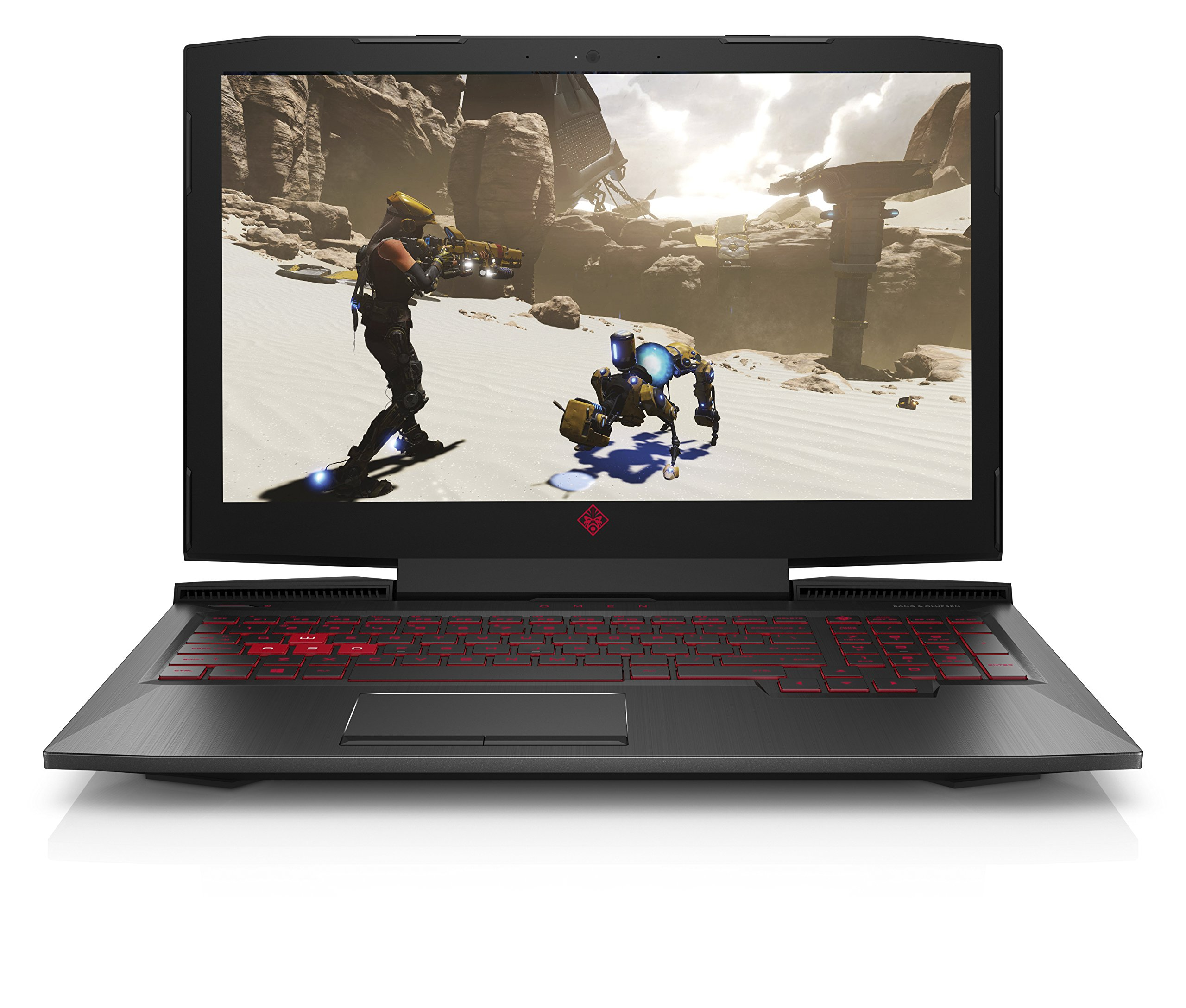 HP Omen 15-ce038ns – Portátil de 15.6″ Full HD (Intel Core i7-7700HQ, 16GB RAM, 128GB SSD + 1TB HDD,  Nvidia GeForce GTX 1050 Ti 4GB, Windows 10) negro – Teclado QWERTY Español